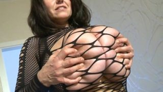 Milena Velba fishnet stockings