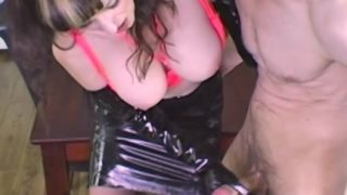 Shanda Fay Jerks Off Cock With Latex Gloves!