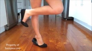 Ballet Flats Dandling & Dipping Shoe Play & Tip Toes